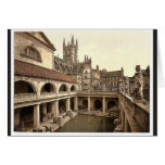 Roman Baths and Abbey, IV, Bath, England classic P Greeting Card