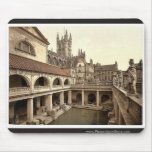 Roman Baths and Abbey, IV, Bath, England classic P Mouse Pad