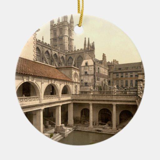 Roman Baths and Abbey, IV, Bath, England Ornaments