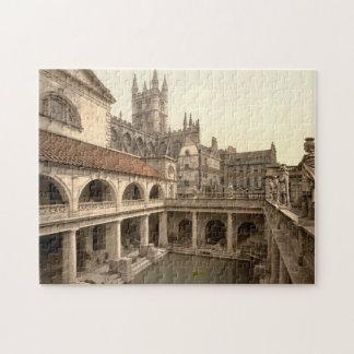 Roman Baths and Abbey, IV, Bath, England Jigsaw Puzzle
