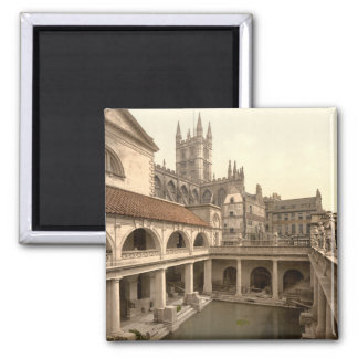 Roman Baths and Abbey IV, Bath, Somerset, England 2 Inch Square Magnet