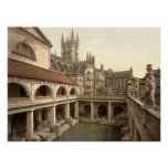 Roman Baths and Abbey IV, Bath, Somerset, England Poster