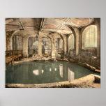 Roman Baths and Abbey V, Bath, Somerset, England Poster