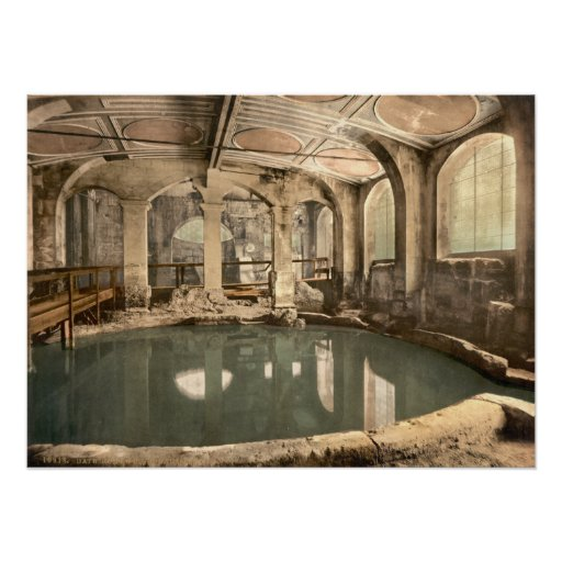 Roman Baths and Abbey V, Bath, Somerset, England Poster