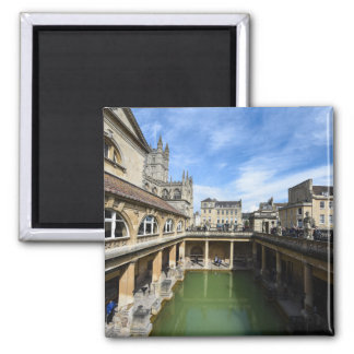 Roman Baths in Bath England 2 Inch Square Magnet