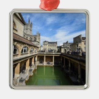 Roman Baths in Bath England Metal Ornament