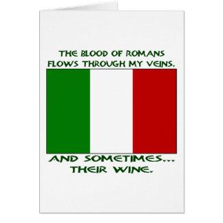 Roman Blood Wine Greeting Card