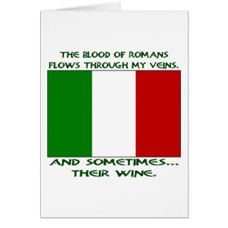 Roman Blood & Wine Greeting Card
