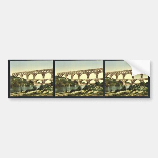 Roman bridge over the Gard, constructed by Agrippa Car Bumper Sticker
