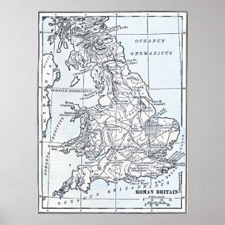 Roman Britain 43 AD Poster