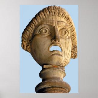 Roman Bust / Mask Poster