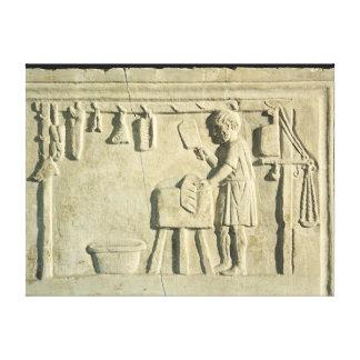Roman Butcher's, relief Canvas Print
