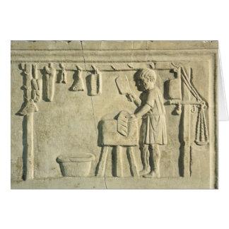 Roman Butcher's, relief Card