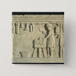Roman Butcher's, relief Pinback Button