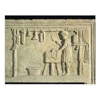Roman Butcher's, relief Postcard