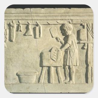 Roman Butcher's, relief Square Sticker