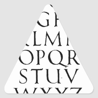 Roman Capitals Triangle Sticker