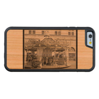 Roman Carousel Lovely in Shades of Black & White Carved Cherry iPhone 6 Bumper Case