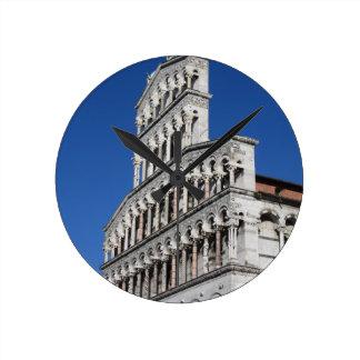 Roman Catholic basilica church in Lucca Round Clock
