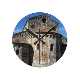 Roman Catholic basilica church San Pietro Apostolo Round Clock