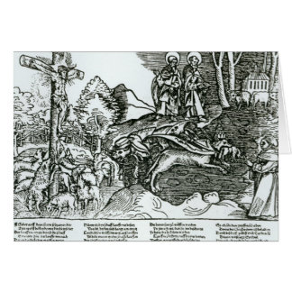 Roman Catholicism and Lutheranism Contrasted Greeting Card