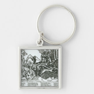 Roman Catholicism and Lutheranism Contrasted Keychain