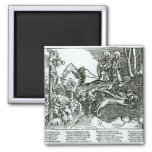 Roman Catholicism and Lutheranism Contrasted 2 Inch Square Magnet