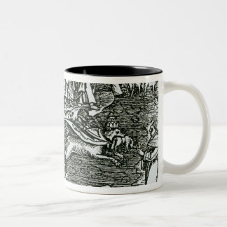 Roman Catholicism and Lutheranism Contrasted Two-Tone Coffee Mug