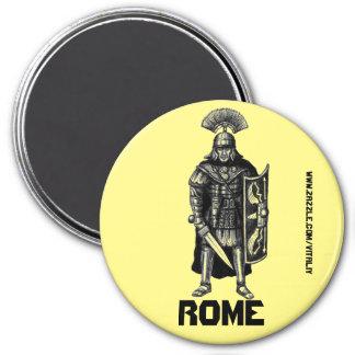 Roman centurion ink pen drawing art 3 inch round magnet
