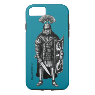 Roman centurion ink pen drawing art iPhone 7 case