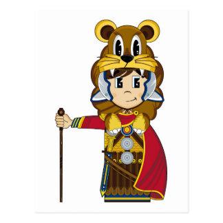 Roman Centurion Lion Soldier Postcard