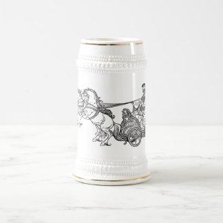 roman chariot beer stein