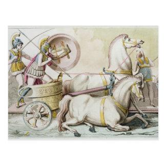 Roman Charioteers, from 'Costumi dei Romani', engr Postcard