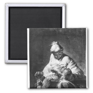 Roman Charity 2 Inch Square Magnet