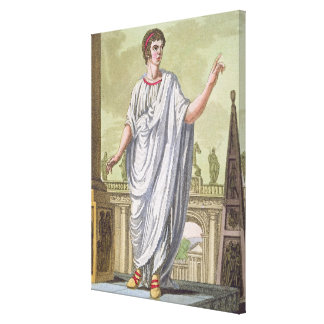 Roman Citizen Claiming Employment, from 'L'Antica Canvas Print