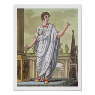 Roman Citizen Claiming Employment, from 'L'Antica Poster
