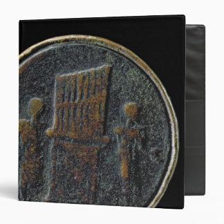 Roman coin depicting an organ 3 ring binders