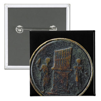 Roman coin depicting an organ pin