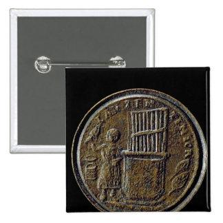 Roman coin depicting an Organ Button