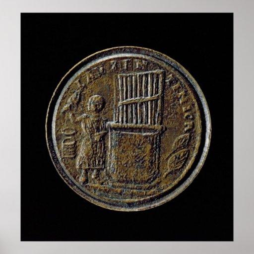 Roman coin depicting an Organ Poster