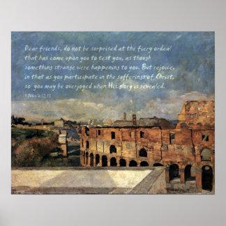Roman Coliseum 1 Peter 4 Poster