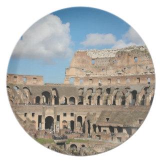 Roman Coliseum 2 Dinner Plates