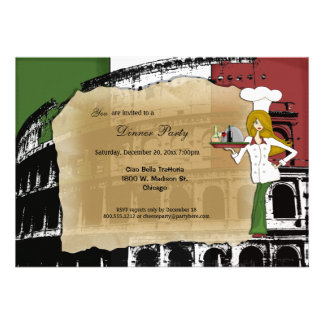 Roman Coliseum Dinner Party Custom Invites