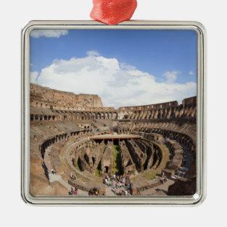 Roman Coliseum, fish eye view Metal Ornament