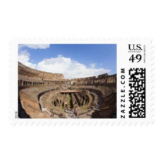 Roman Coliseum, fish eye view Postage