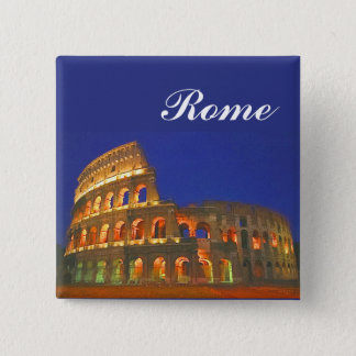 Roman Coliseum Pinback Button