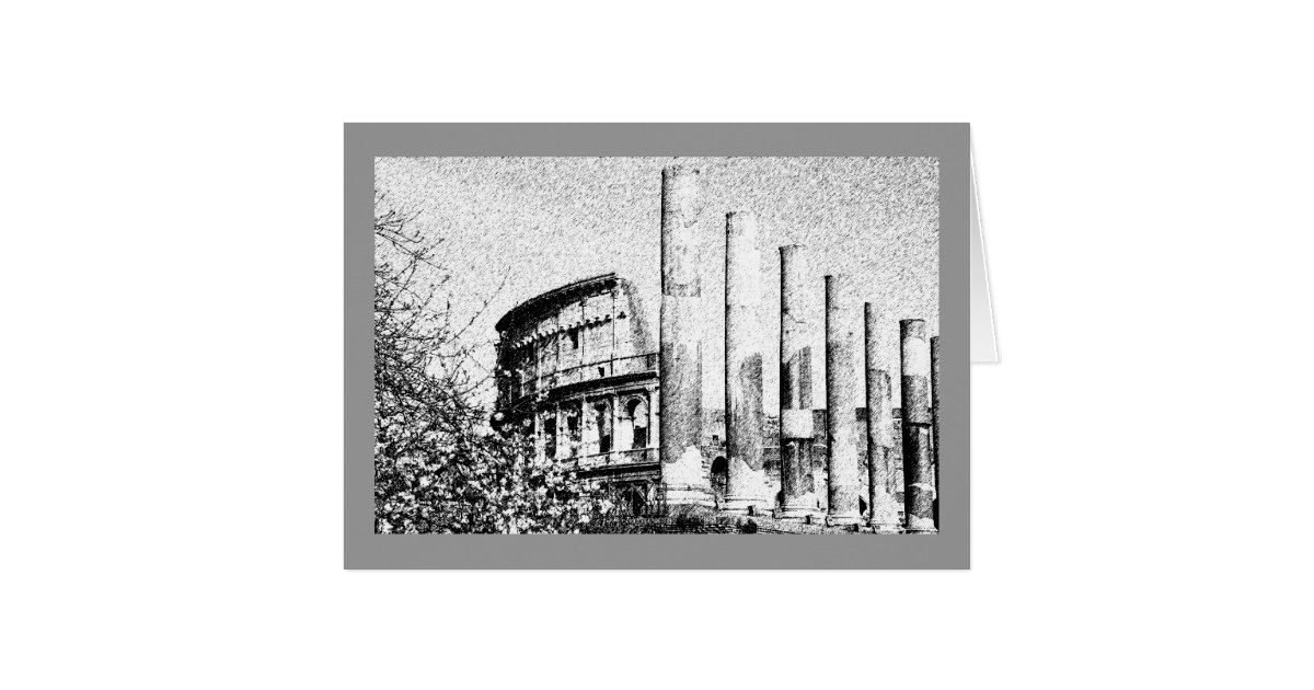 Roman Coliseum Rome Italy Greeting Card