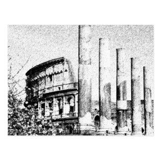 Roman Coliseum, Rome Italy Postcard