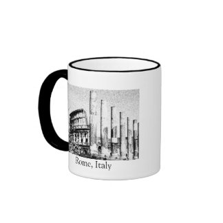 Roman Coliseum, Rome Italy Ringer Mug