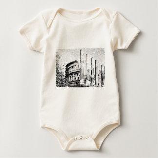 Roman Coliseum, Rome Italy Baby Bodysuits
